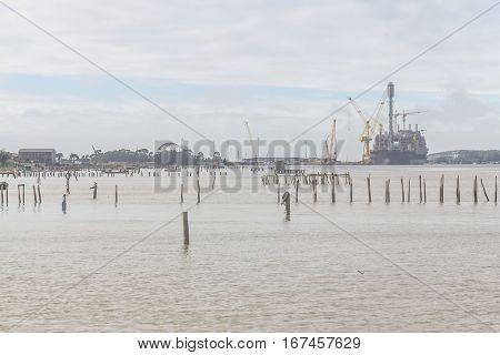 Ship In Rio Grande Old Port