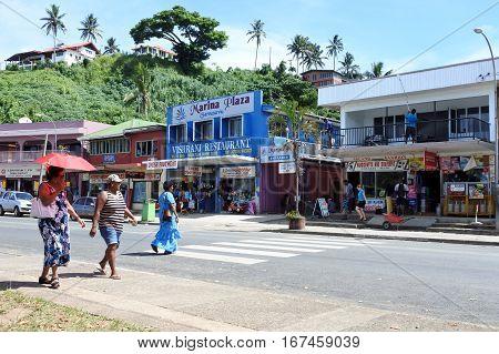 Savusavu Town Main Street Vanua Levu Fiji