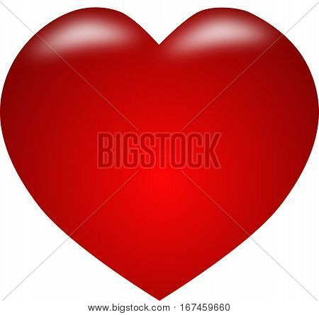 red hart, red isolate icon  heart isolate