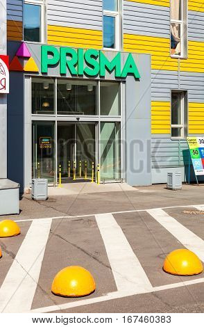 SAINT PETERSBURG RUSSIA - JULY 29 2016: Supermarket Prisma is a Finnish network of supermarkets and hypermarkets