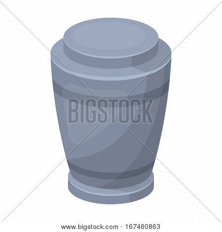 Funeral urns icon in cartoon design isolated on white background. Funeral ceremony symbol stock vector illustration.