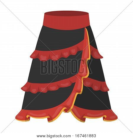 Flamenco skirt icon in cartoon design isolated on white background. Spain country symbol stock vector illustration.