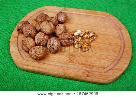 Walnut On A Cutting Board