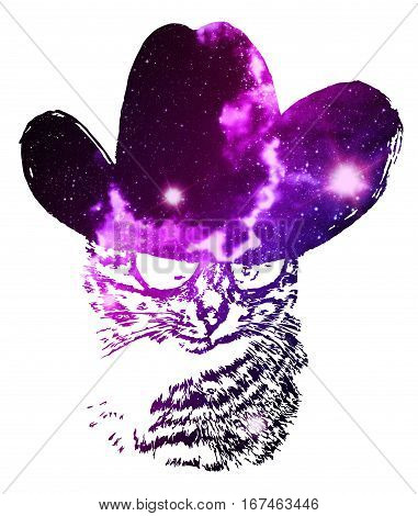 Space Cat Portrait