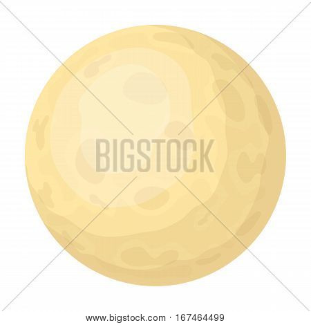Moon icon in cartoon design isolated on white background. Sleep and rest symbol stock vector illustration.