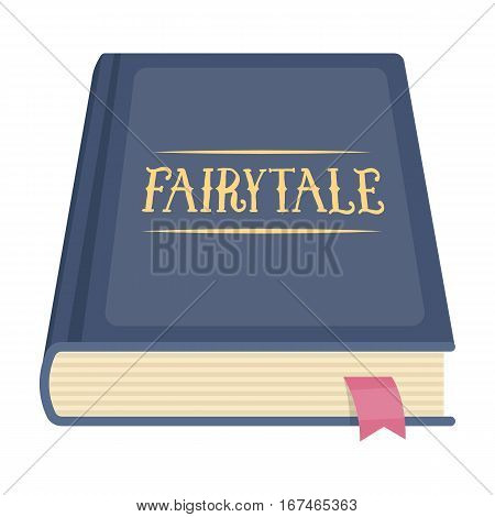 Book with fairytales icon in cartoon design isolated on white background. Sleep and rest symbol stock vector illustration.