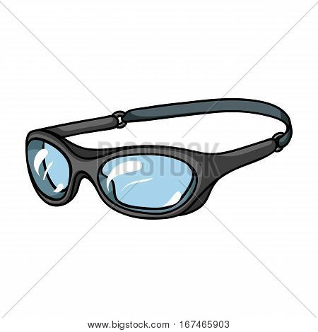 Glasses for swimming icon in cartoon design isolated on white background. Surfing symbol stock vector illustration.