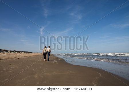 Senior couple on the beach