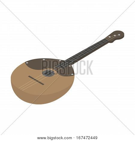 Domra icon in cartoon design isolated on white background. Musical instruments symbol stock vector illustration.