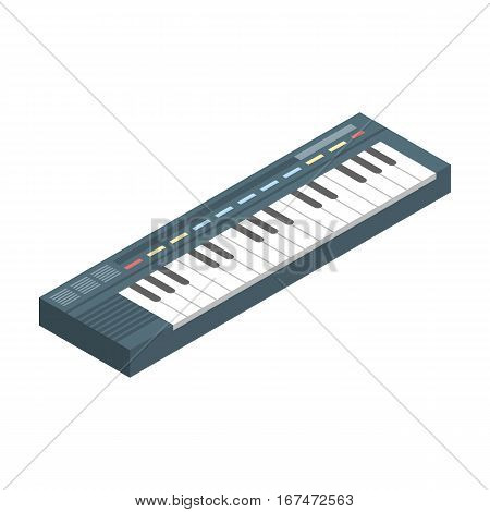 Synthesizer icon in cartoon design isolated on white background. Musical instruments symbol stock vector illustration.