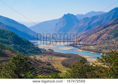 Yangtze River In Lijang, Yunnan Province, China