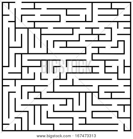 Maze puzzle, labyrinth brain teaser kids game vector. Illustration of labyrinth game, labyrinth for play children