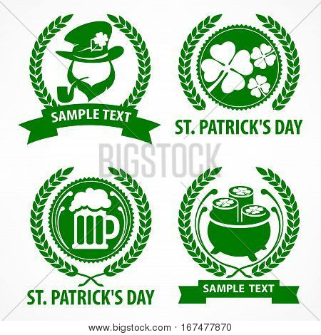St. Patrick`s Day Symbols In Green