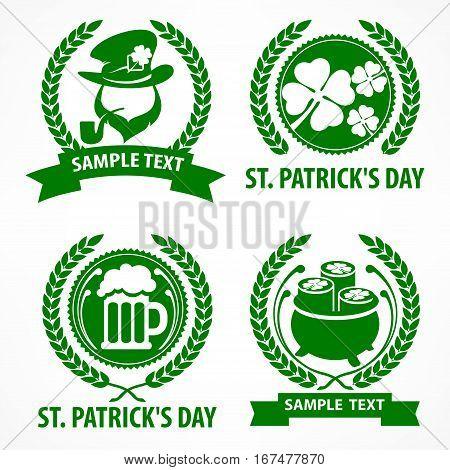 St. Patrick`s Day Symbols In Green