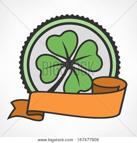 Green Lucky Four Leaf Irish Clover Vintage