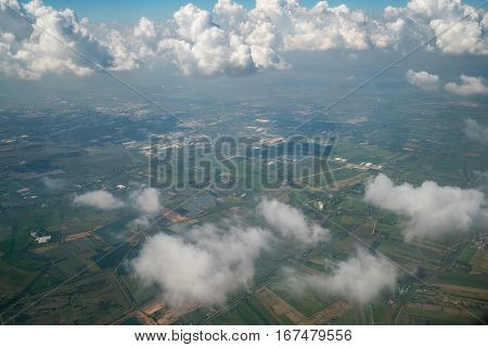 Landscape Viewed From Airplane