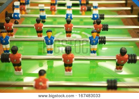 football table soccer table football game soccer table with red and blue players