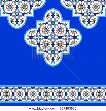 Quatrefoil mosaic background traditional ornamental design moroccan style