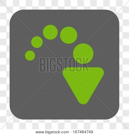 Redo interface toolbar button. Vector icon style is a flat symbol inside a rounded square button light green and gray colors chess transparent background.