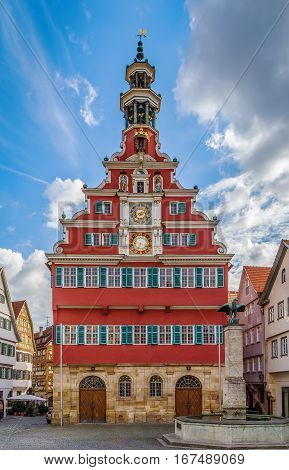 Old Town Hall is the most beautiful building in Esslingen am Neckar Germany.