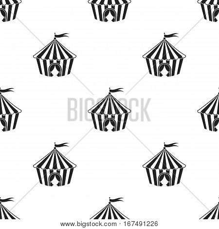 Circus tent icon in black style isolated on white background. Circus pattern vector illustration.