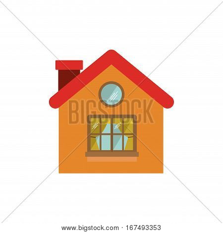 small confortable room with window vector illustration