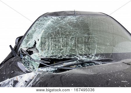Front Windshield Cracked By Accident.