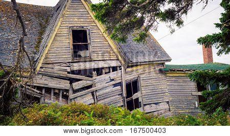Falling down house in rural prince edward island