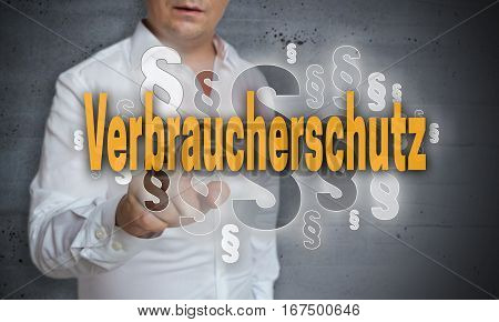 Verbraucherschutz (in German Consumer Protection) Paragraphs Are Selected By Man