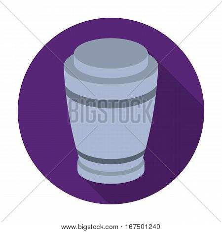 Funeral urns icon in flat design isolated on white background. Funeral ceremony symbol stock vector illustration.