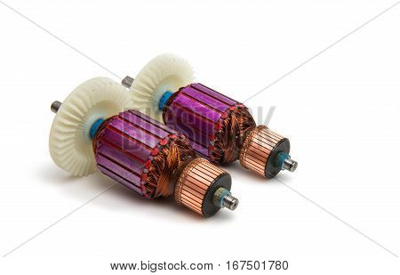 Electric  Technology ANCHOR MOTOR isolated on white background