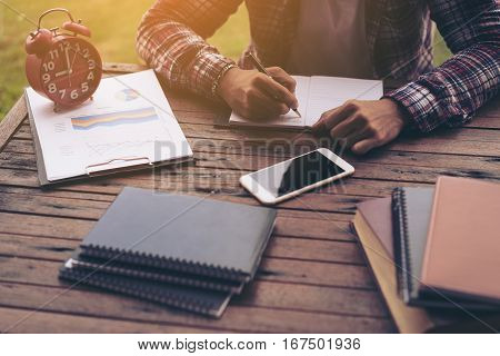 Businessman Working On A Desk