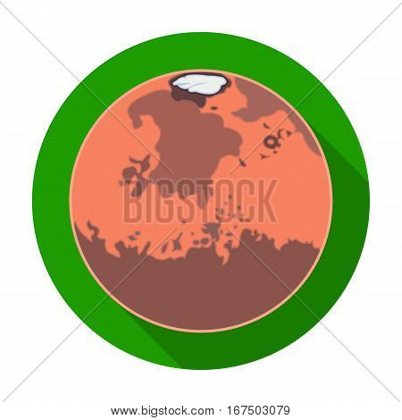 Mars icon in flat design isolated on white background. Planets symbol stock vector illustration.
