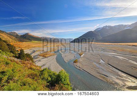 Waimakariri River, New Zealand Landscape