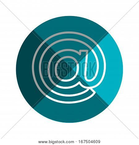 arroba symbol isolated icon vector illustration design