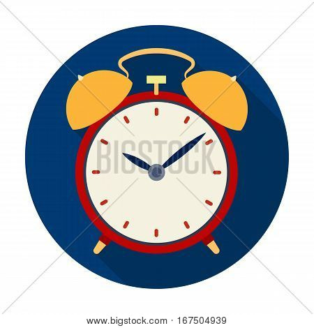 Bedside clock icon in flat design isolated on white background. Sleep and rest symbol stock vector illustration.