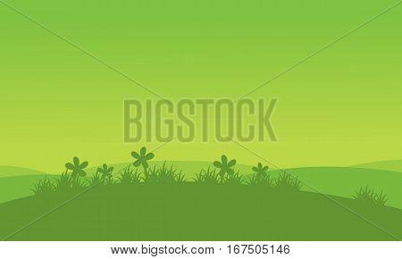 Illustration of flower spring landscape collection stock