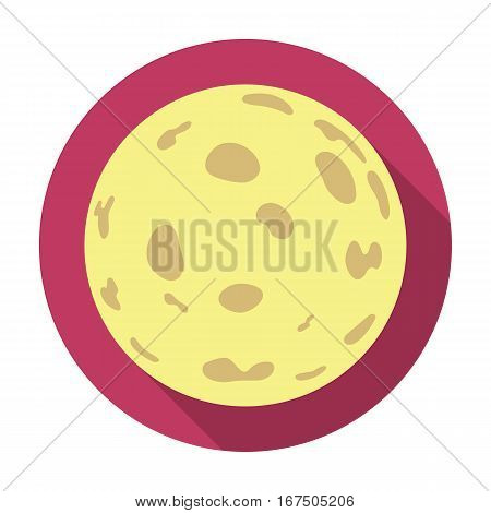 Moon icon in flat design isolated on white background. Sleep and rest symbol stock vector illustration.