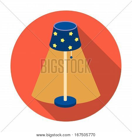 Floor lamp icon in flat design isolated on white background. Sleep and rest symbol stock vector illustration.