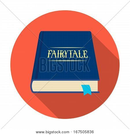 Book with fairytales icon in flat design isolated on white background. Sleep and rest symbol stock vector illustration.
