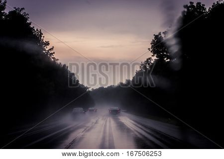Driving Through A Rainstorm