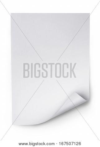 White Blank Sheet Of Paper