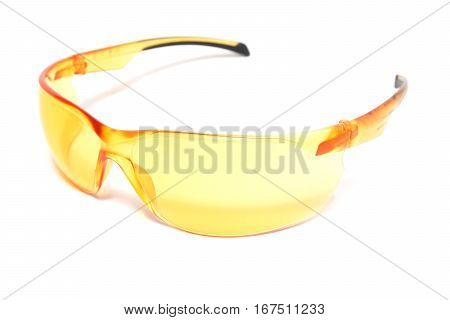 sports protection glasses isolated on white background