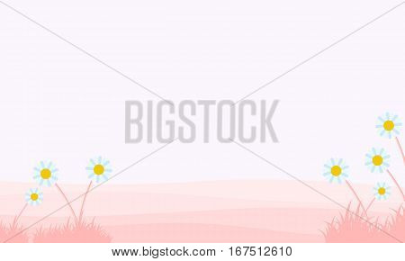 Illustration of spirng beauty landscape collection stock