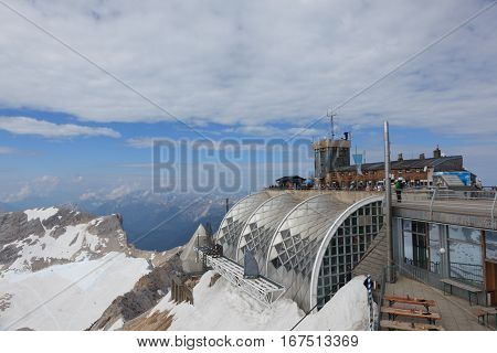Stunning views of the Zugspitze, on top of Germany