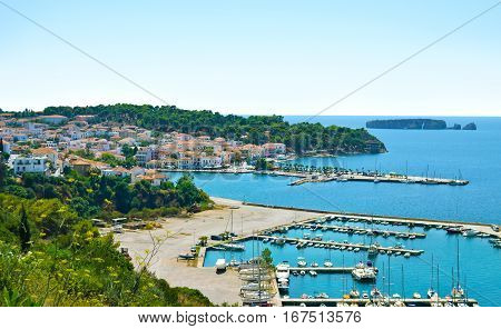 landscape of Pylos Messinia Peloponnese Greece - greek summer places