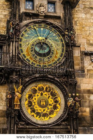 The Astronomical Clock in downtown Prague Czech Republic