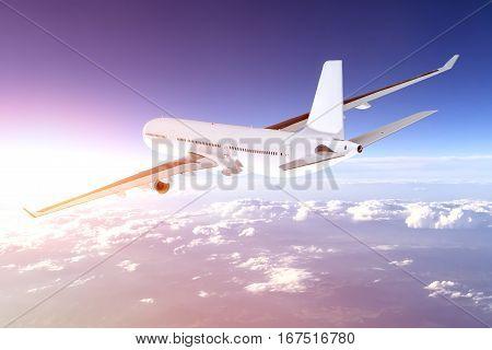 airplane aircraft transport aeroplane transportation travel traveler flight fly air plane trip jet business heaven airport concept - stock image