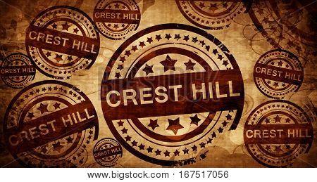 crest hill, vintage stamp on paper background