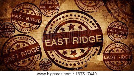east ridge, vintage stamp on paper background